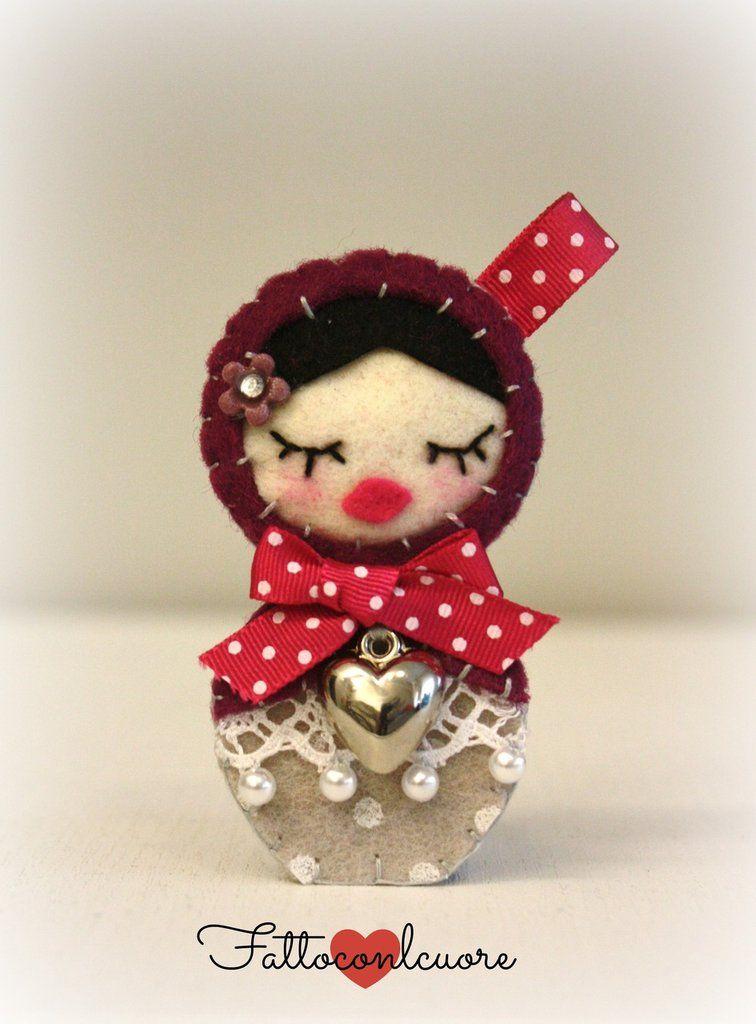 Portachiavi ciondolo Matrioska idea regalo, by fattoconilcuore, 9,00 € su misshobby.com #misshobby