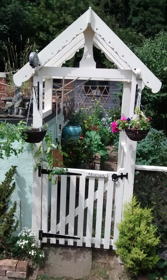Beautiful Country Cottage Garden Gate Arch with by TeresaJames