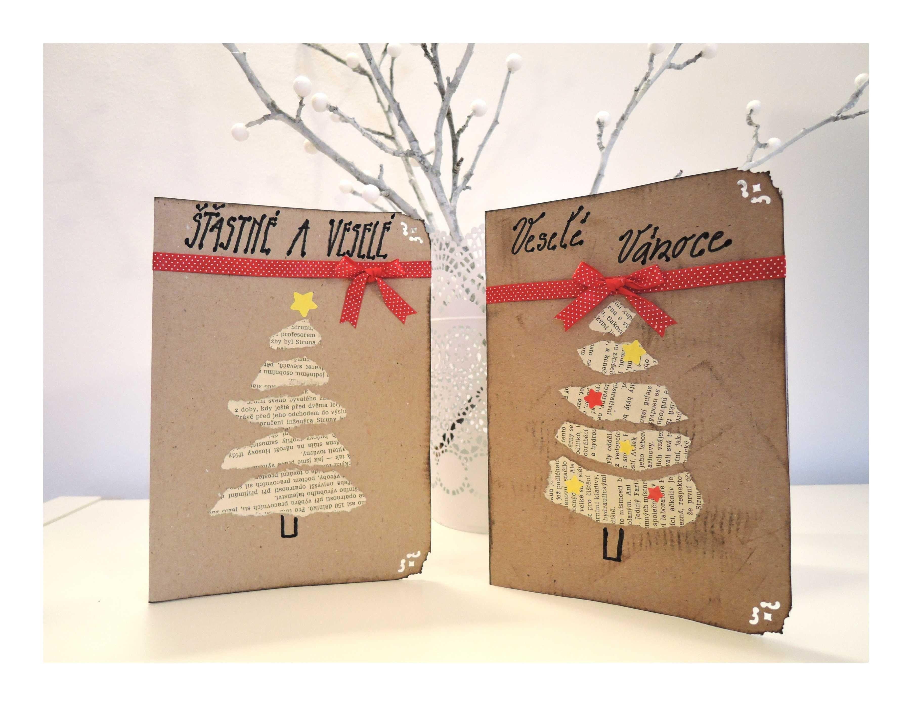 Vánoční přání z papíru #2. Diy christmas paper card - photo#37