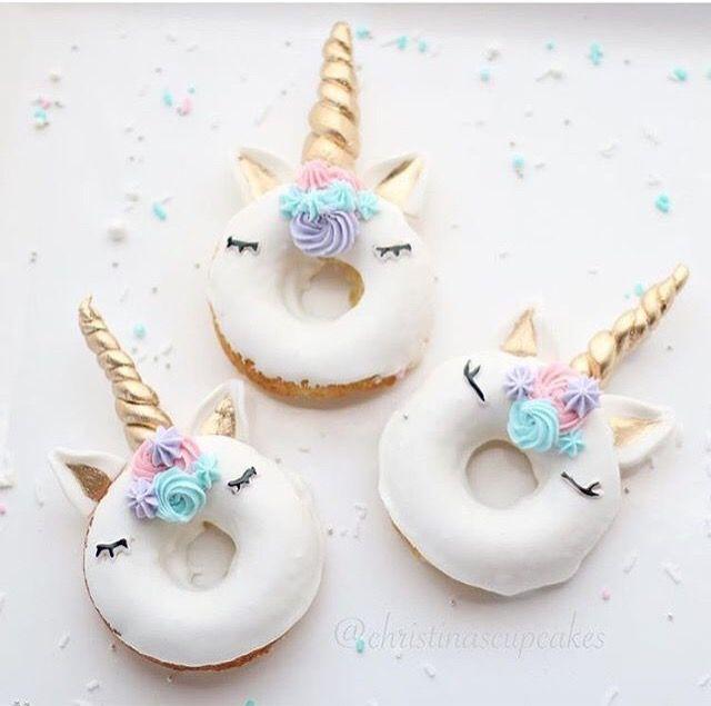 Unicorn donuts for birthday