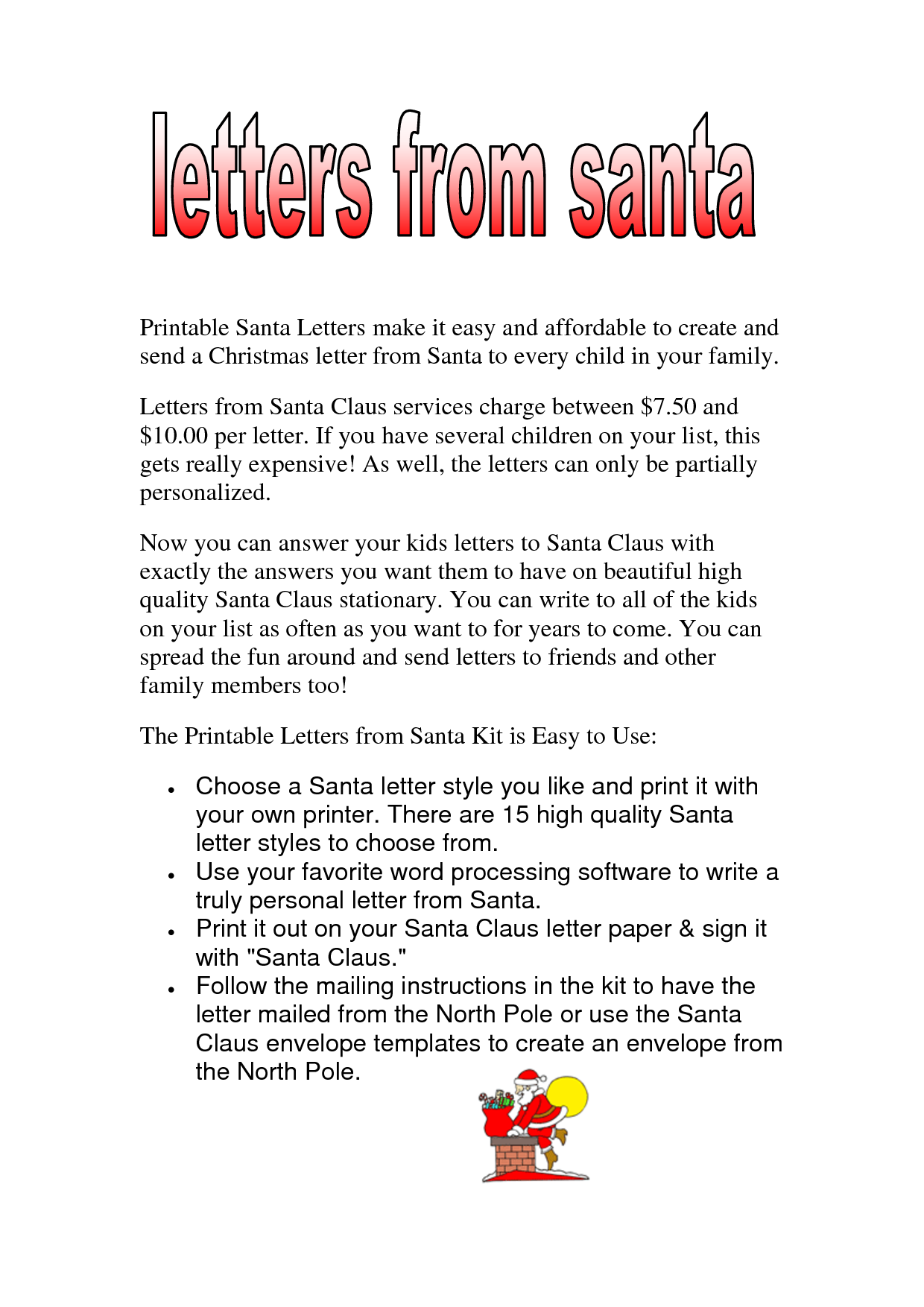 Traditional Christmas Letter