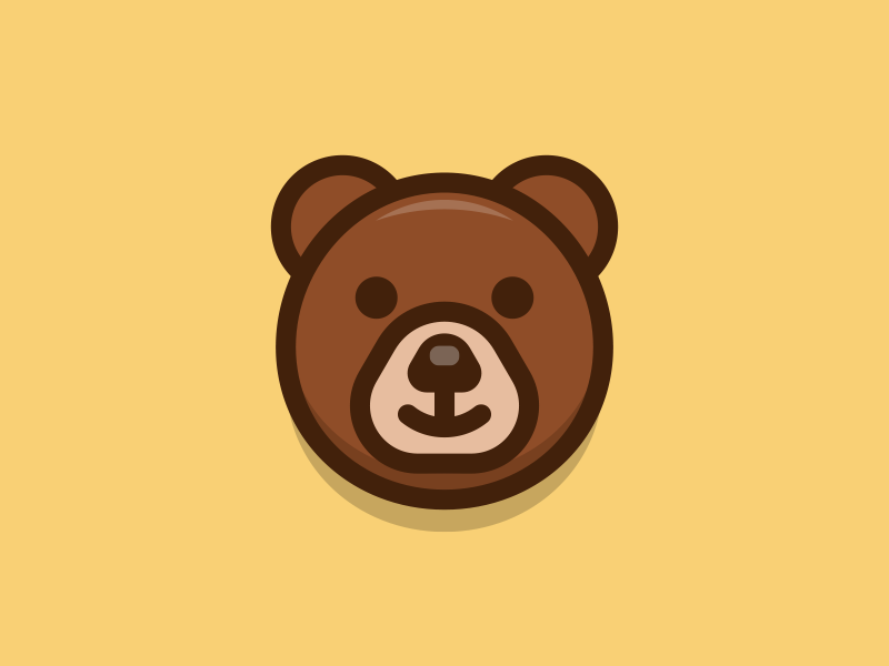 Bear By Sandor Design Popular Dribbble Shots Bear Art Cute Bears Animal Outline