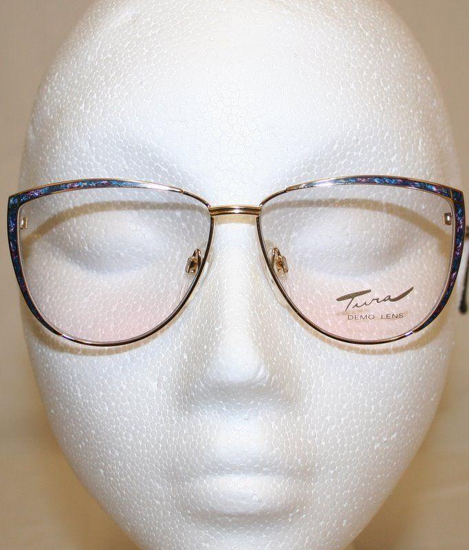 93675fec5f34 The Old Glasses Shop - Tura 218 Vintage Designer Eyewear Blue ...