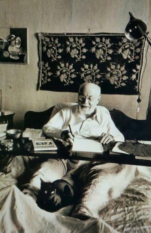 Henri Matisse by Robert Capa.