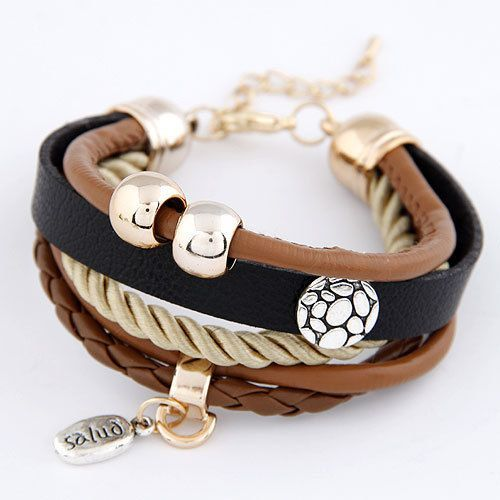 dp multilayer com girls wrap amazon charm leather bracelet trendy teenage stainless genuine i for