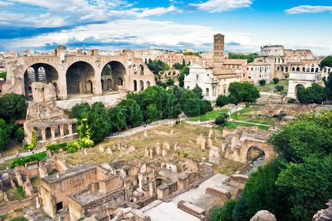 Ancient ruins of the Forum, Rome, Italy