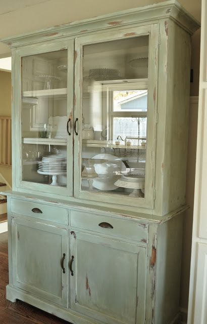 Amazing How To Make A New Piece Of Furniture Look Old With Paint And  Distressing...Kitchen Hutch Reveal...before And After!   Jennifer Rizzo
