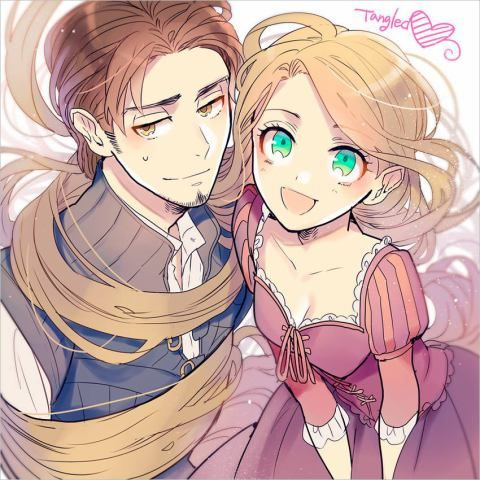 chibi rapunzel and flynn - Google Search