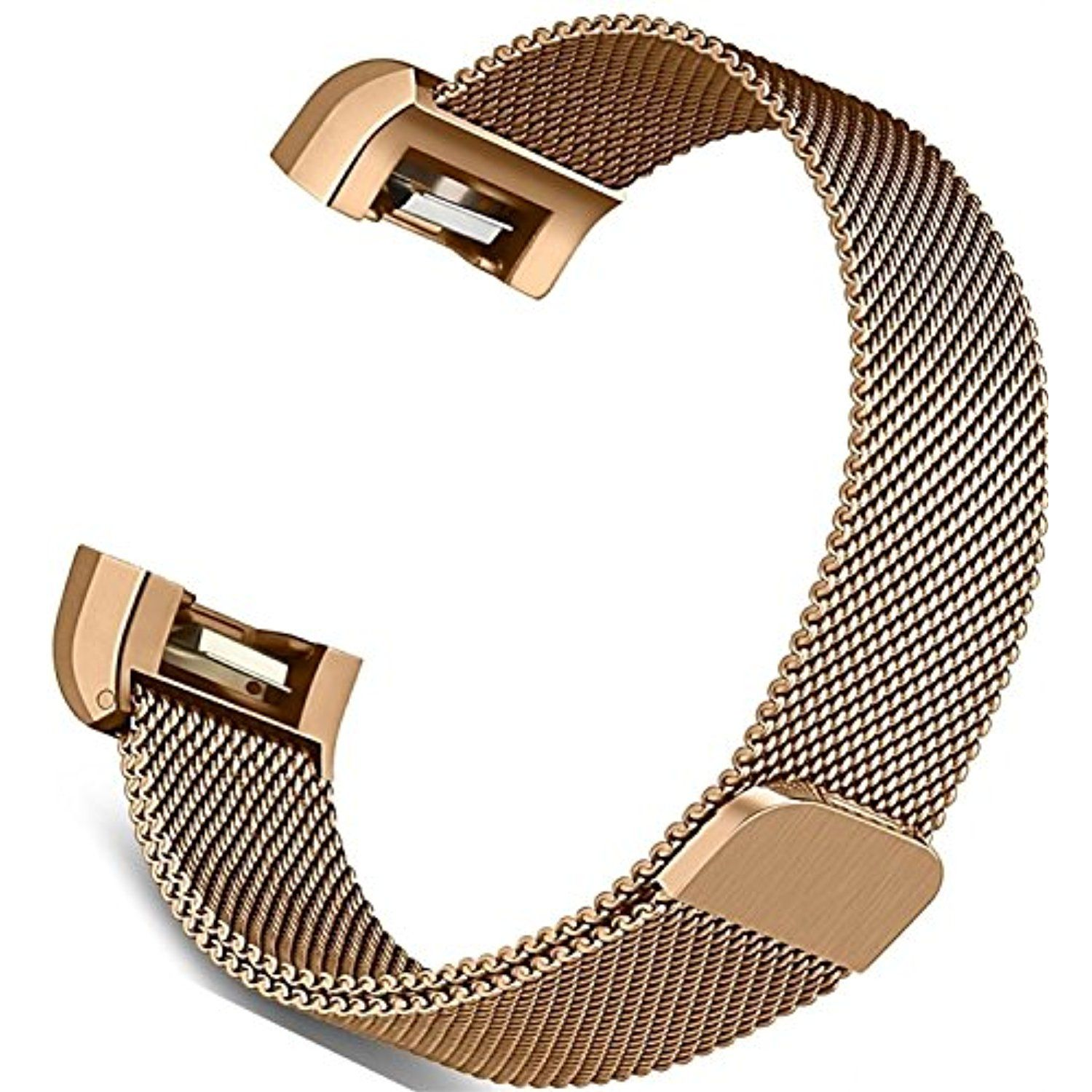 778960ed91f4 Fitbit Charge 2 Bands Accessories - C2DJOY New Replacement Milanese Loop  Small and Large Metal Stainless Steel Strap with Unique Magnet Strap
