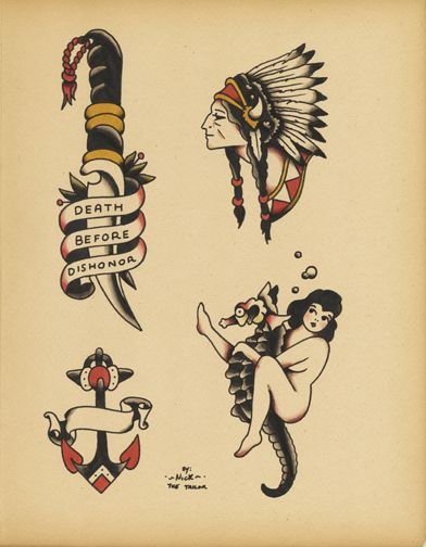 Old school tattoo the pretty things in life pinterest for Tattoo school listings