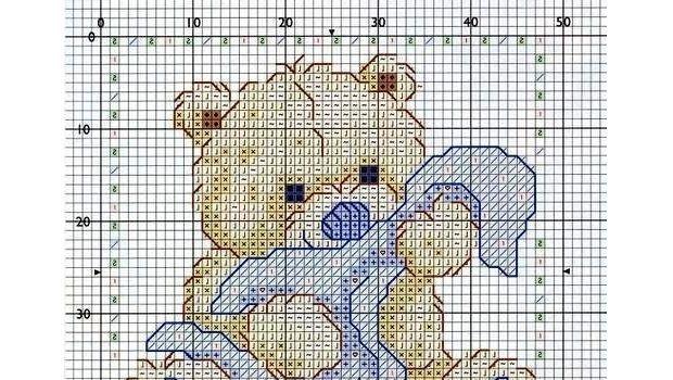 I disegni per neonati a punto croce per bavaglini e for Lenzuolini punto croce per bambini