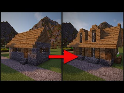 Minecraft How To Remodel A Village Part 3 Large House Youtube Minecraft Architecture Minecraft Houses Minecraft
