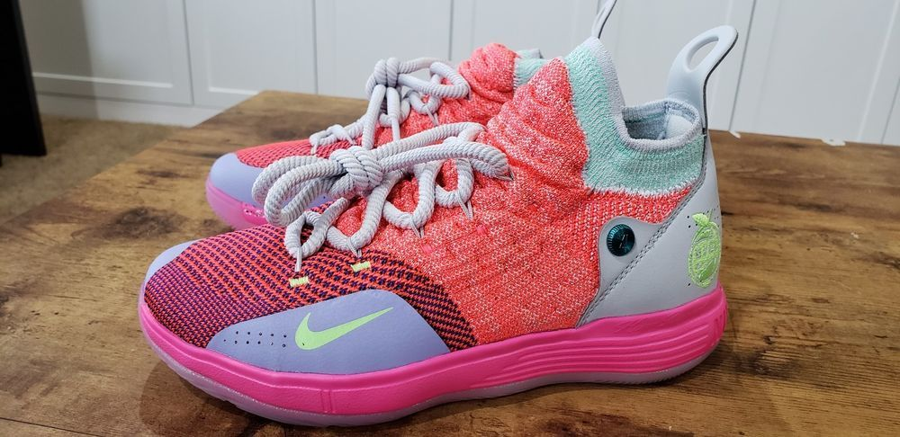 bc4edd7a4fc8 eBay  Sponsored Nike React KD XI 11 GS Youth EYBL Hot Punch Lime Blast  AH34656-00 Size 4Y