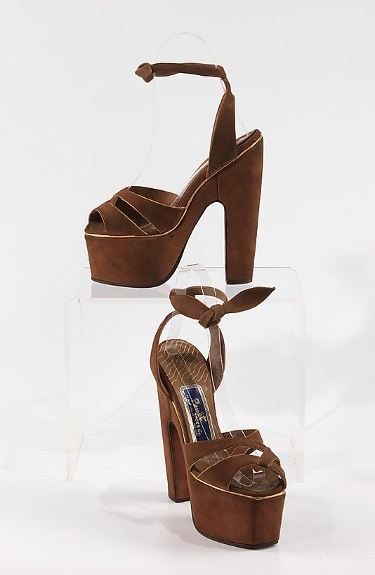 6111a8289 way better than any jeffrey campbells. vintage 1940s platform sandals.