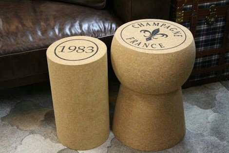 Champagne and wine seats/side tables