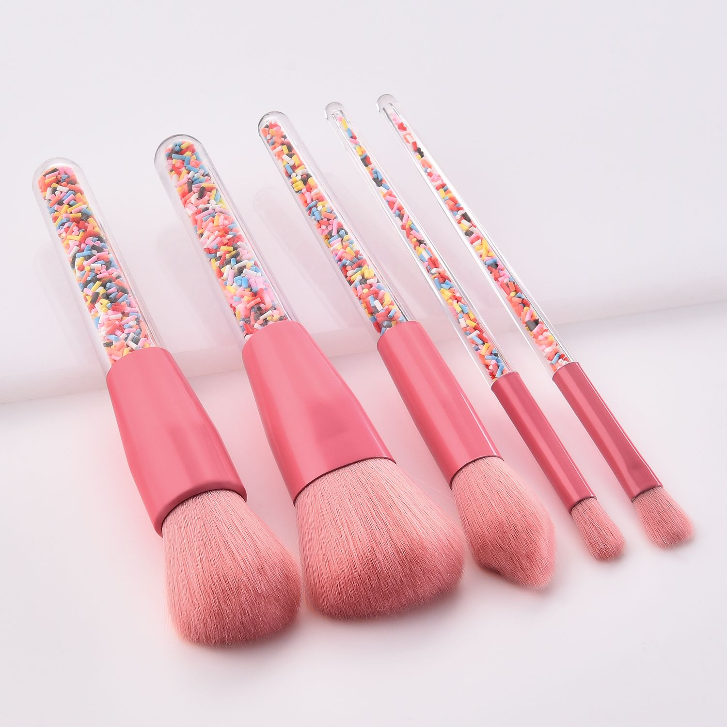Pinky candy makeup brushes in stock wholesale best gift