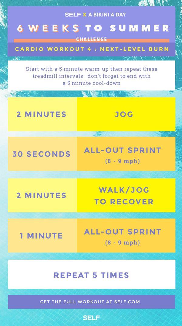 6 Weeks To Summer Challenge Cardio Next Level Burn Self Com Interval Running Workouts Summer Workout Plan Interval Running