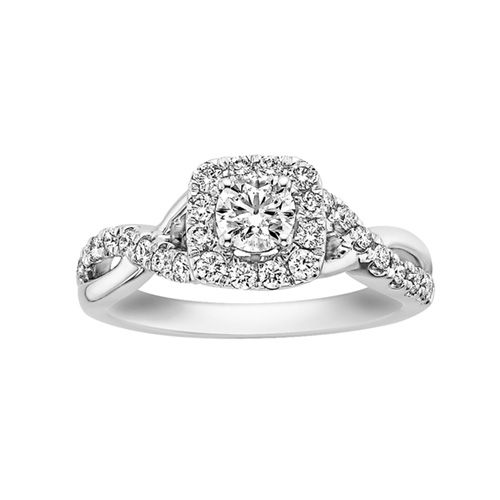 Stunning Fred Meyer Jewelers ct tw Forever Ideal Diamond Engagement Ring