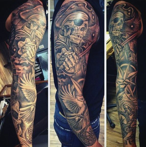 Pirate Tattoos Designs For Men 50 pirate tattoos for men ...