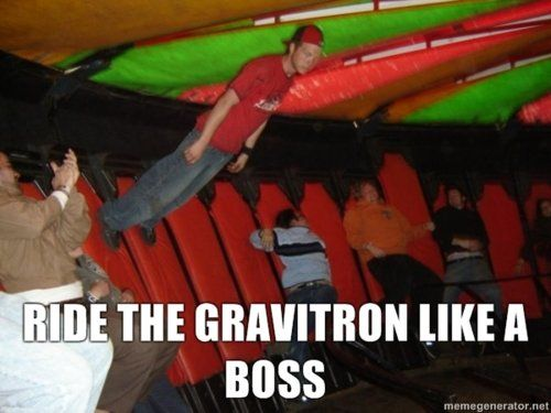 LIKE A BOSS,  Until I saw someone barf on the ride.  Never ridden one since......