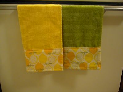 Temporary Nest: DIY Project: Pretty Little Dish Towels