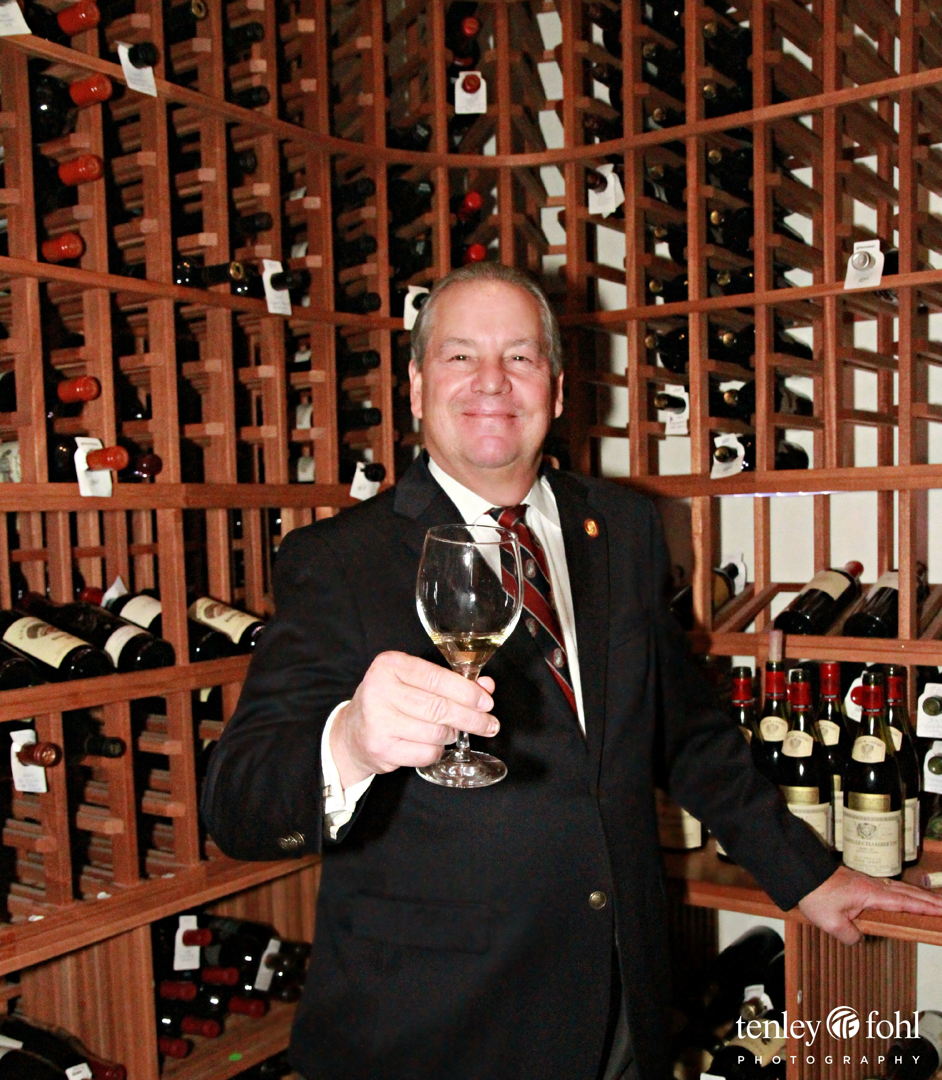 Master Sommelier, Mr. Fred Dame in the Wine Cellar of Bacara Resort & Spa