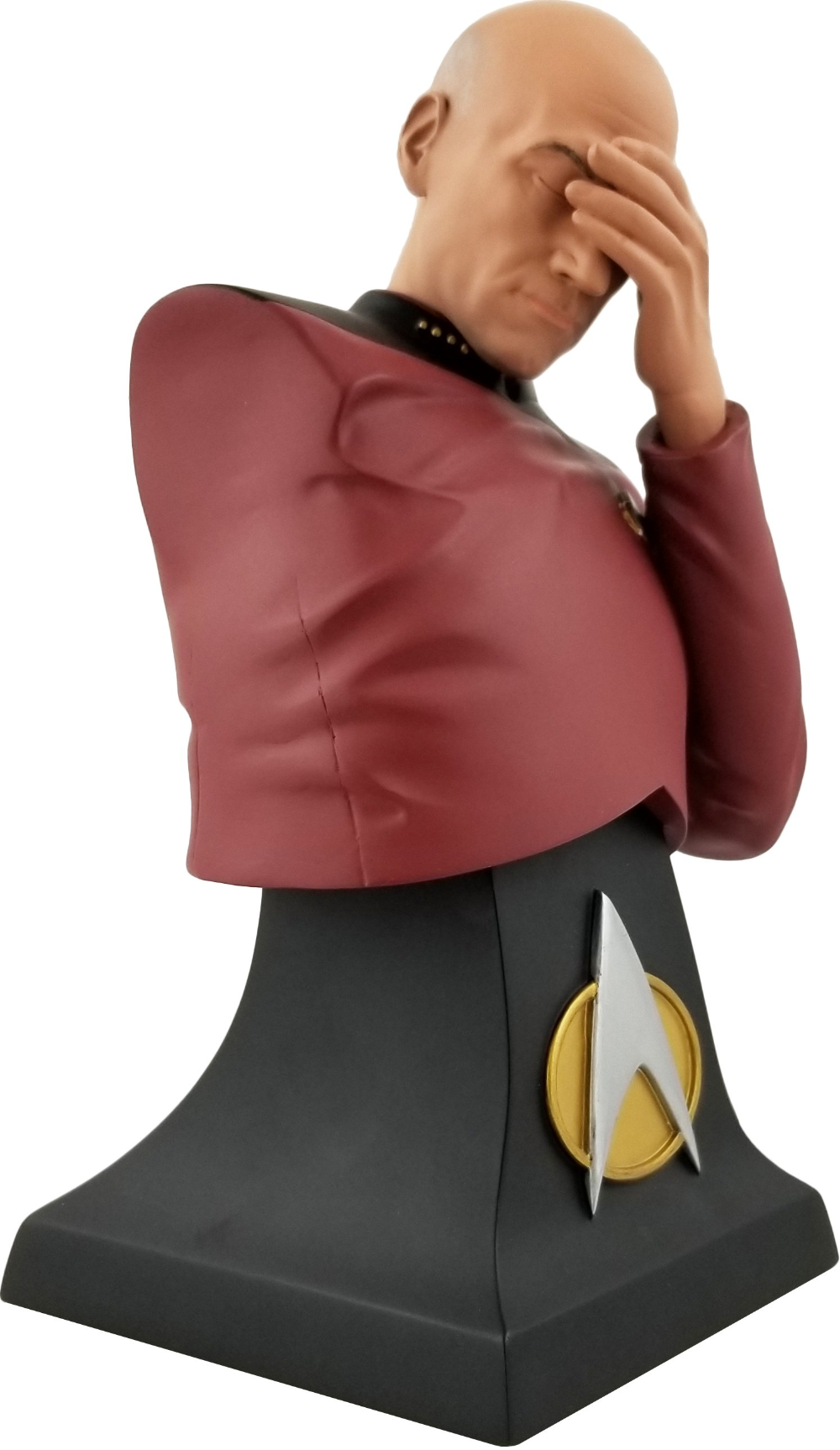 Star Trek Picard Facepalm Bust Is The Perfect 2020 Convention Exclusive Star Trek Geek Culture Picard