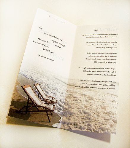 Unique+Beach+Wedding+Invitations | Beach Wedding Invitations Wording Ideas