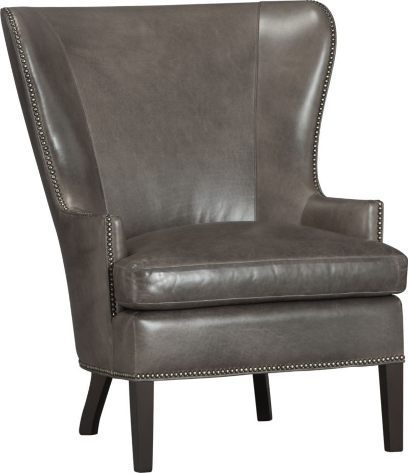 Dylan Leather Wingback Chair | Crate and Barrel | The New ...