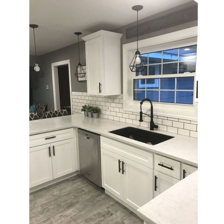 White Kitchen Cabinets With Black Hardware: Black Cabinet Handles And Knobs Furniture Hardware