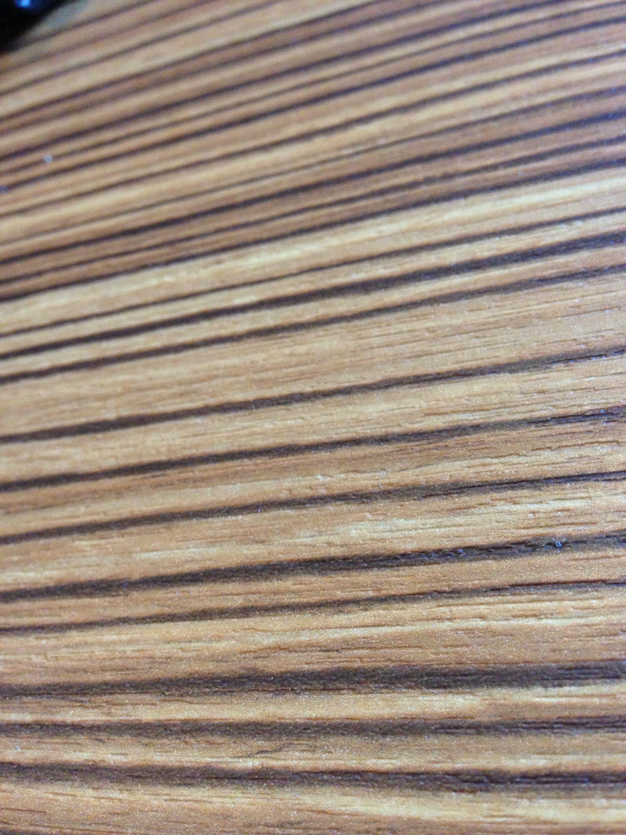 Bubinga wood veneer.