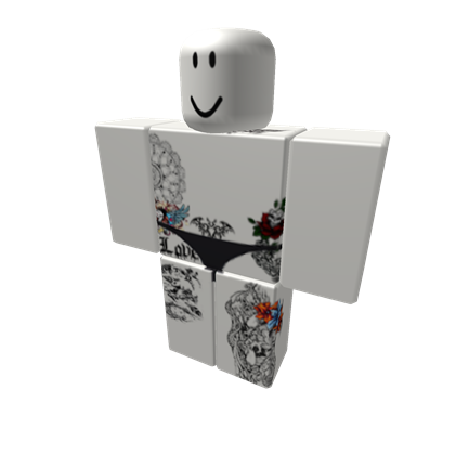 White Crop Top + Jeggings w Adidas Superstars Roblox