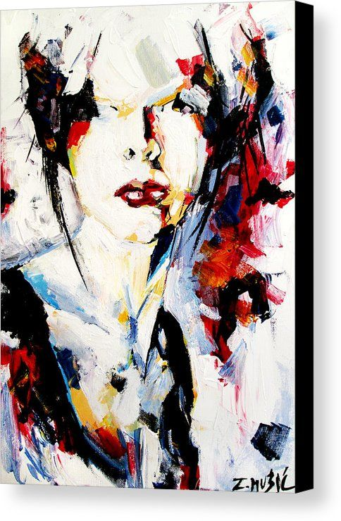 Abstract Portrait Canvas Print Canvas Art By Zlatko Music Contemporary Art Painting Portrait Painting Modern Art Paintings