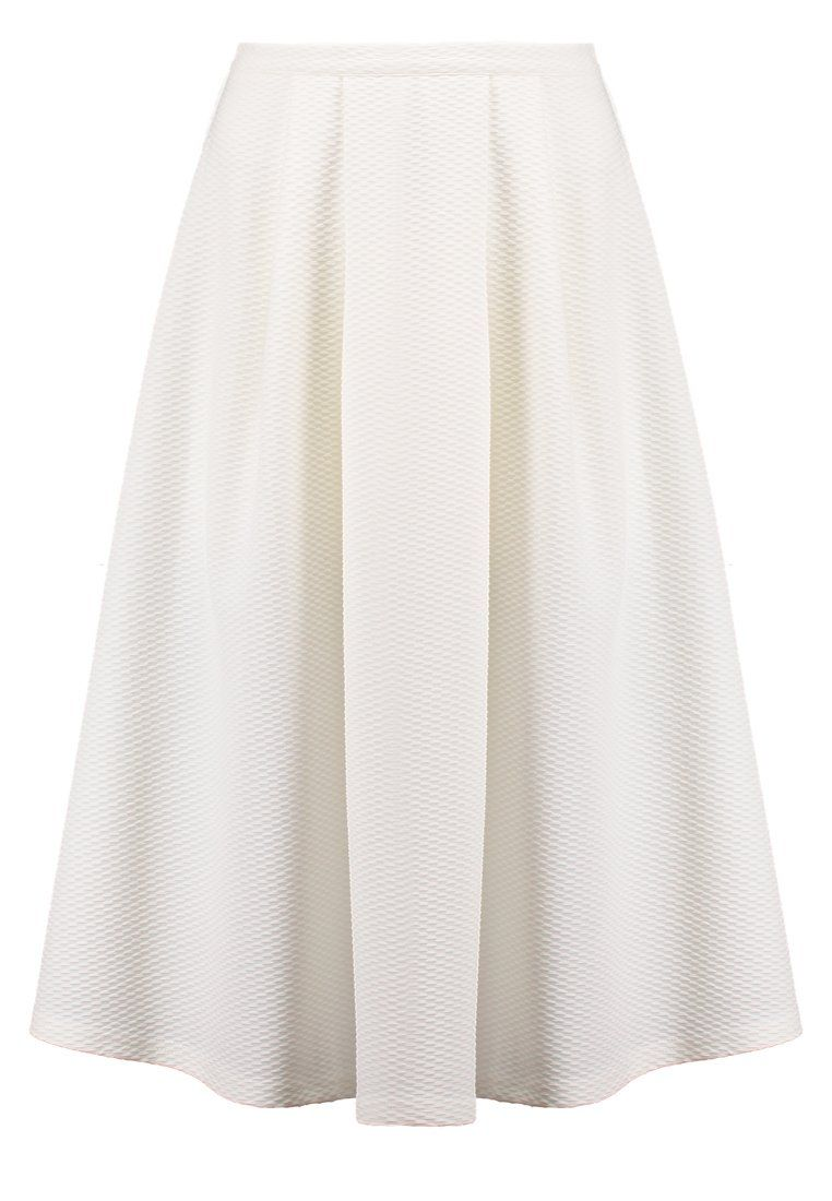 35f25806 New Look Spódnica plisowana midi za kolana biała white   Spódnice ...