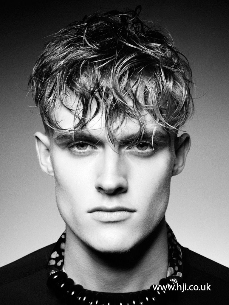 Mens messy haircuts  mens messy gelled fringe hairstyle  hairstyle gallery  men