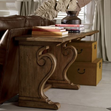 ethanallen - world traveller wayfarer library table | ethan