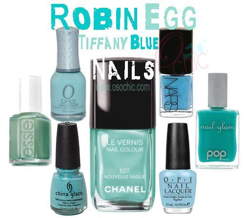 Robin Egg Nails Tiffany Blue Beyonce Ivy Nail Polish