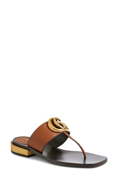 0db959d6b5f Free shipping and returns on Gucci  Marmont  Sandal (Women) at  Nordstrom.com. An interlocked-initial logo ornament boldly brands the wide  instep strap of a ...