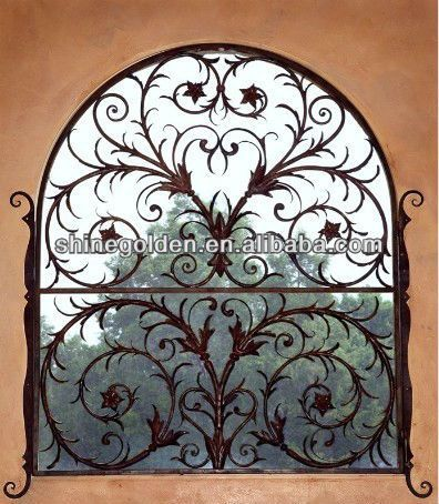 Indian Style Wrought Iron Window Grill Design 2