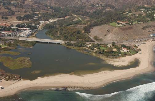 Aerial View Of The Adamson House At Malibu Lagoon State Beach The House And Grounds Share One Of The Most Beautif Malibu Most Beautiful Beaches Malibu Beaches