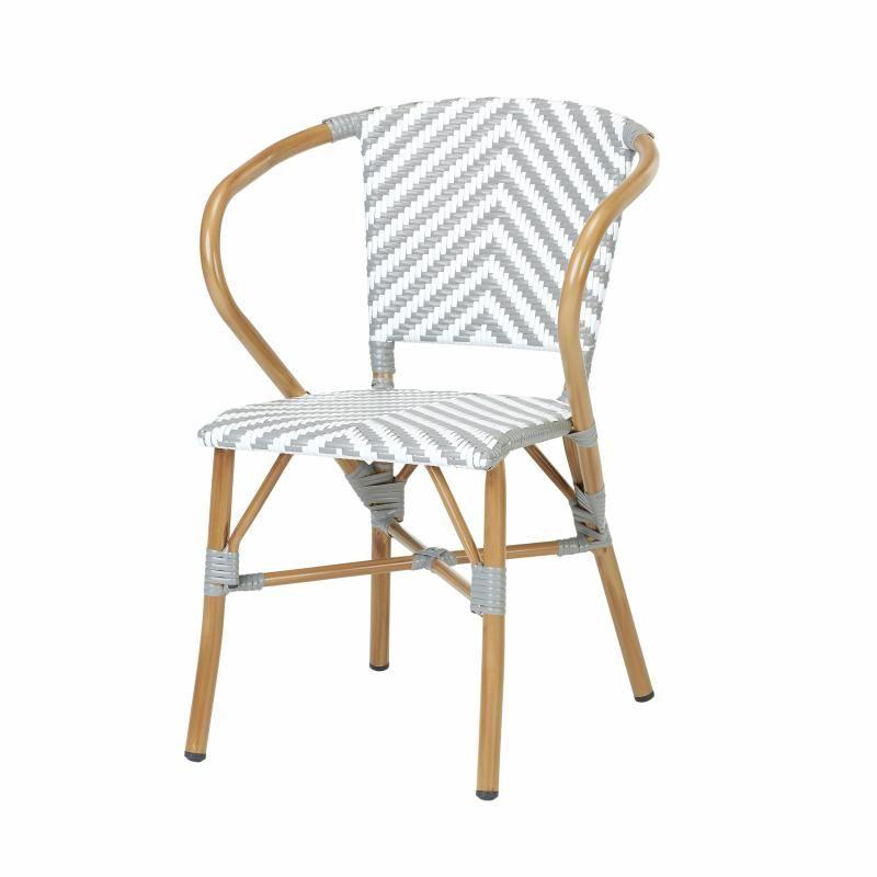 rotin design fauteuil resine tressee