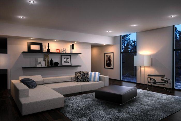 Elegant Wohnzimmer Modern Einrichten   59 Beispiele Für Modernes Innendesign