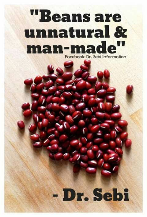 The only recommended bean by Dr  Sebi     Garbanzo beans    IN