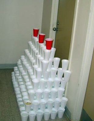 dorm-room-door-prank-cups-tower-trap & dorm-room-door-prank-cups-tower-trap | Pranks | Pinterest | Dorm ...