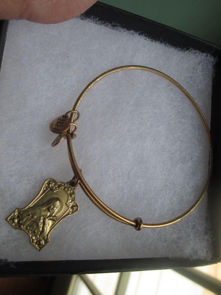 Alex And Ani St Saint Teresa Theresa Retired Rare Bracelet Russian Gold Alexandani Bangle
