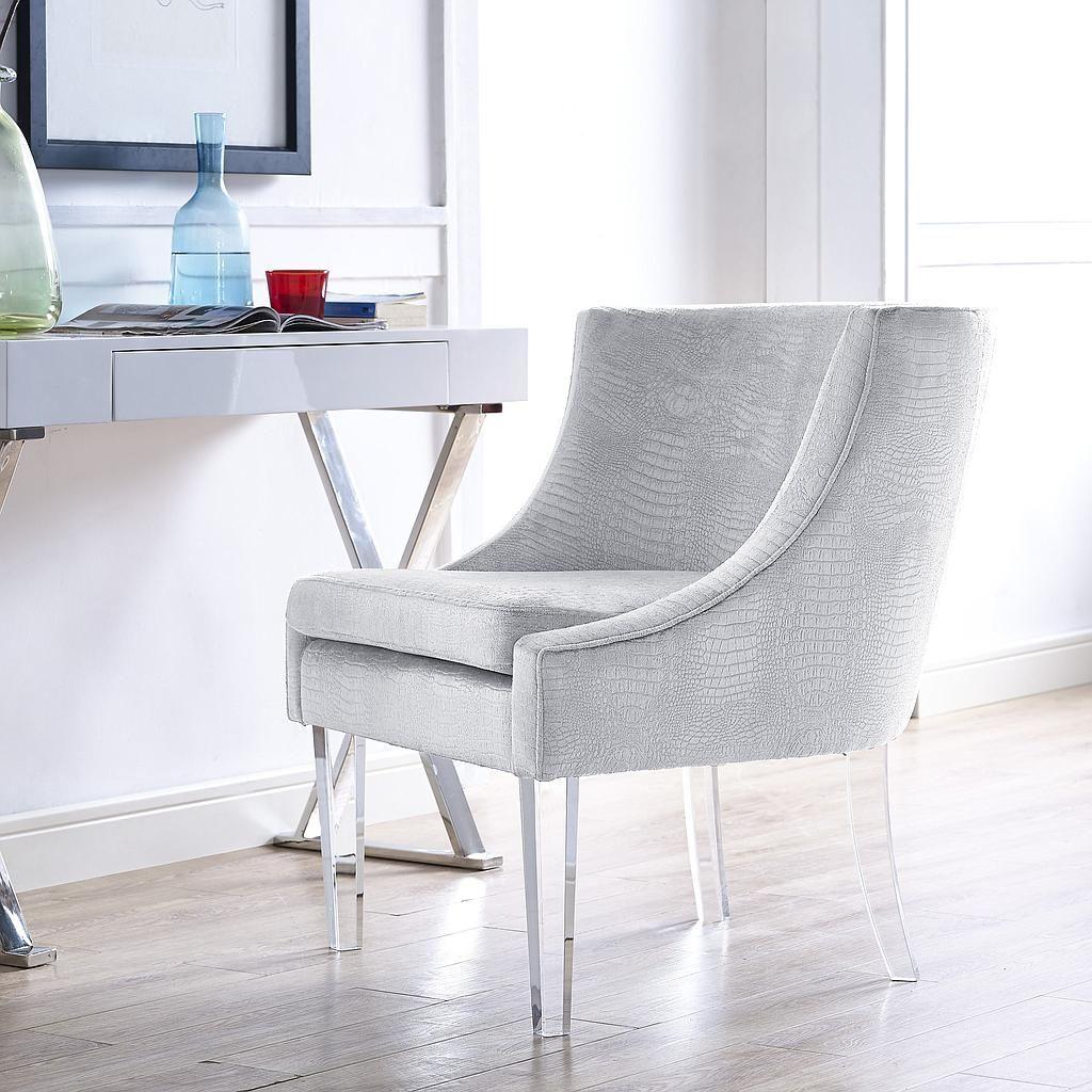 Best Myra Silver Croc Chair Tov Furniture Furniture Living 400 x 300