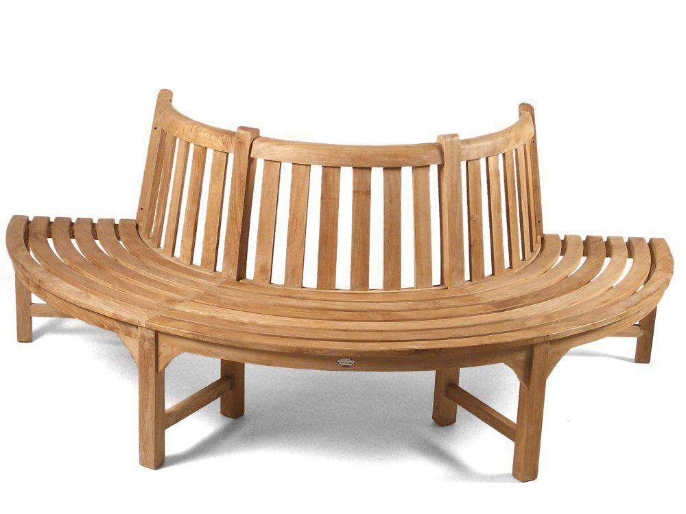 Half Round Teak Tree Seat Bench 220cm Amazon Co Uk