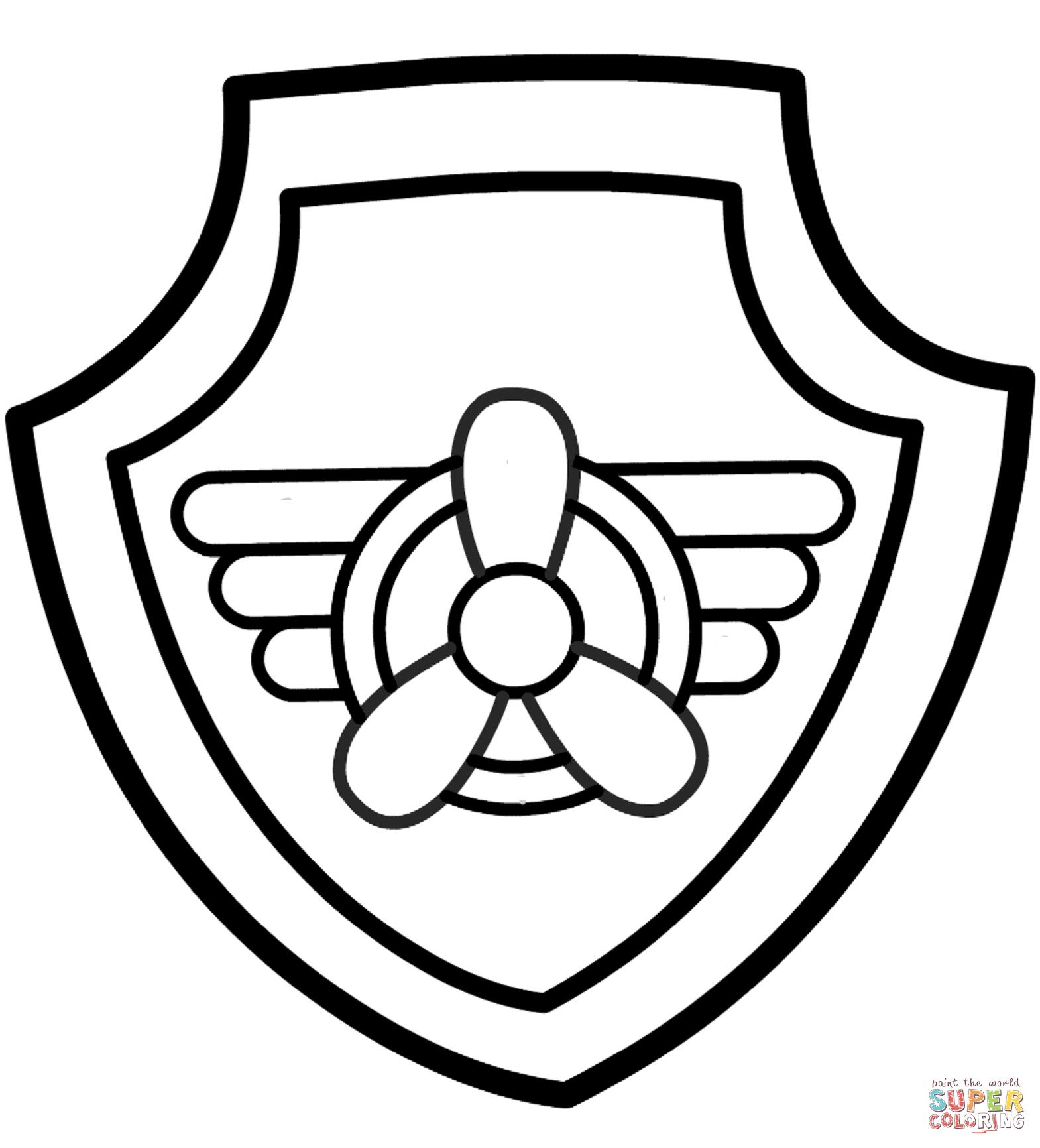 Paw Patrol Skye\'s Badge | Super Coloring | colors | Pinterest ...