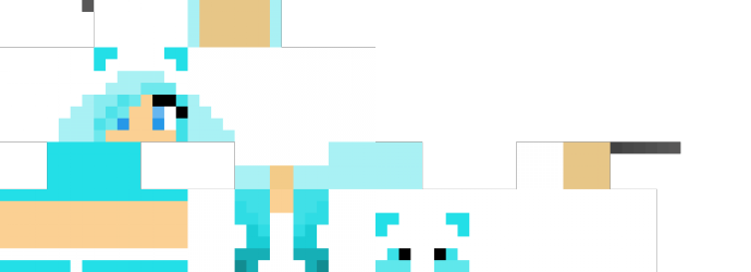 Blue Panda Girl Minecraft Para Chicas Pinterest Panda Girls - Skins para minecraft pe para mujer