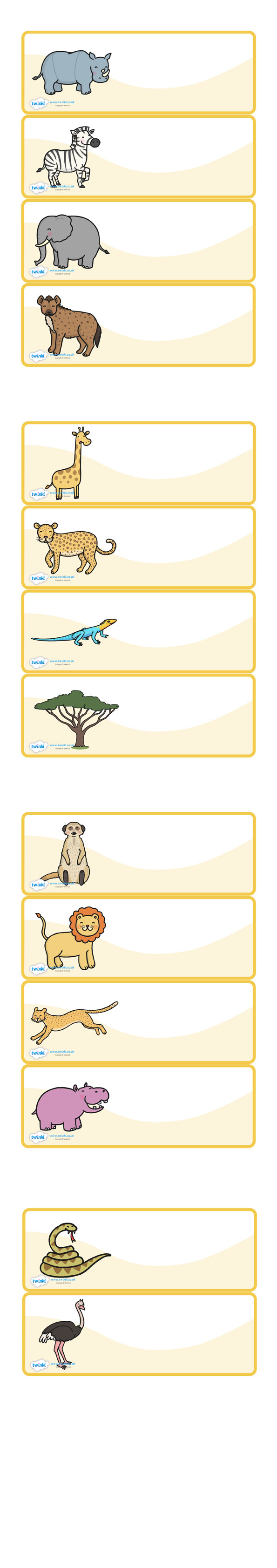 Twinkl Resources Editable Peg Drawer Labels Safari Animals Thousands Of Printable Primary Teaching R Teaching Resources Primary Labels Classroom Themes